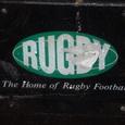 町のゴミ箱にもRUGBY発祥の地と書いてありました