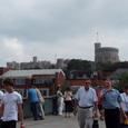 街からみたウィンザー城